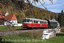 Historischer MAN-Schienenbus.