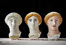 Experimentelle Studie zur Farbigkeit des sogenannten Treu-Kopfes, Liebieghaus Skulpturensammlung (Liebieghaus Polychromy Research Projekt in Kooperati