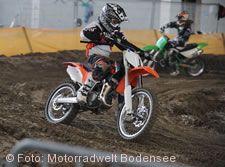 Motocross-Strecke auf der Motorradwelt Bodensee.