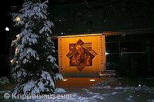 Krippenmuseum bei Schnee und Nacht 25.12.10