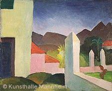 August Macke, Afrikanische Landschaft, 1914. Kunsthalle Mannheim